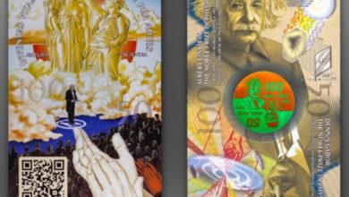 Банкнота 100/50 Nobelists (Энштейн и Денеш)